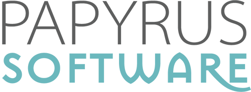 Logo der Firma Papyrus-Software